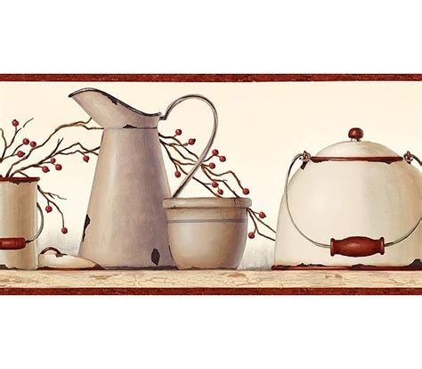 Kitchen Borders Ideas - country kitchen wallpaper border primitive vintage and misc decorating ideas pinterest