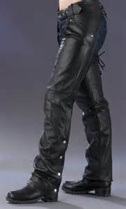 Women's Leather Motorcycle Chaps
