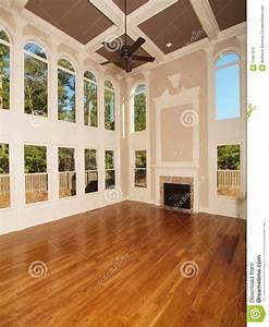 Model Luxury Home Interior Living Room Windows Stock Photo ...