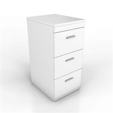 englewood white 3 drawer office filing cabinet