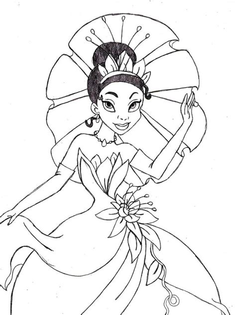 color tiana images  pinterest coloring books