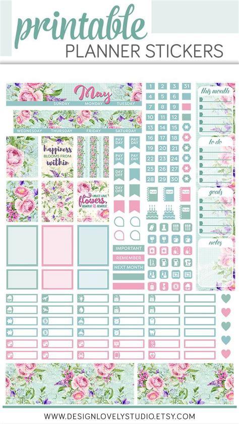 mini happy planner stickers  monthly kit mini