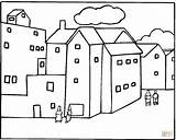 Coloring Pages Neighborhood Buildings Apartment Printable Houses Around Freecoloringpagefun Template Clipart Colouring Print Apartments Coloringhome sketch template