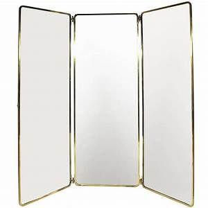 1930s Full Length Brass Folding Mirror For Sale at 1stdibs