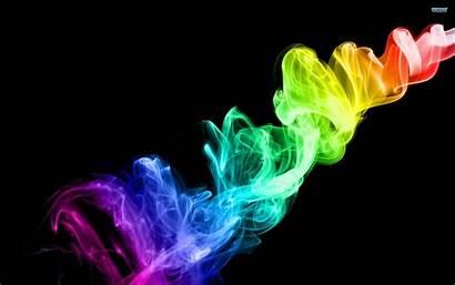 Smoke Colorful Wallpapers Cool Desktop 3d Neon
