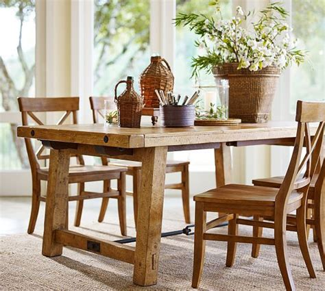aarons dining room tables benchwright extending table and set of 6 aaron chairs