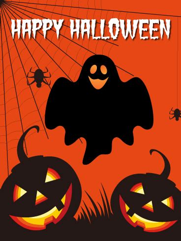 spooky happy halloween card birthday greeting cards