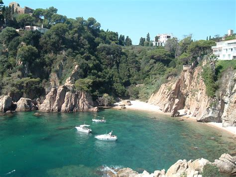 Costa Brava Spain Blanes Bay With Boats