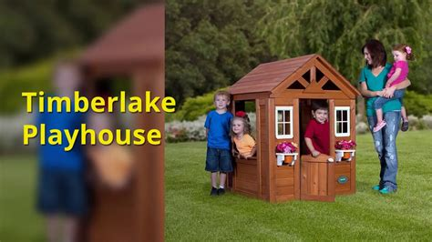 backyard discovery timberlake cedar wooden playhouse backyard discovery timberlake all cedar wood playhouse