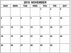 Printable Calendar 2018 Monthly Free 8x11
