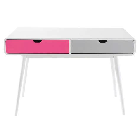 bureau 120 cm bureau vintage en bois blanc l 120 cm beverly maisons du