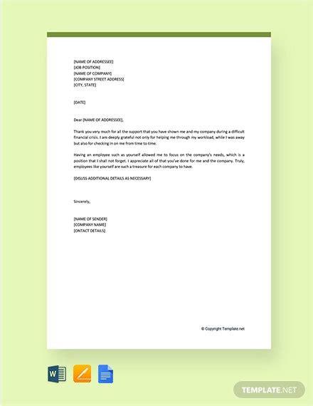 personal   letter  appreciation template