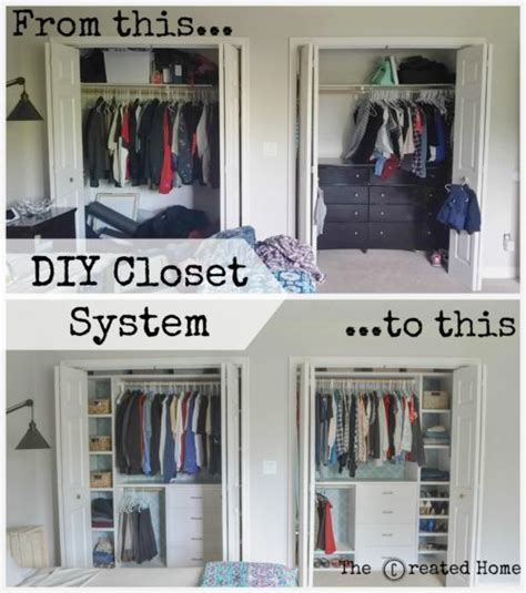 Do It Yourself Closet Organization Ideas by Custom Small Closet System The Created Home