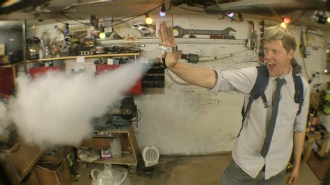 diy  men ice man palm mounted liquid nitrogen blasters