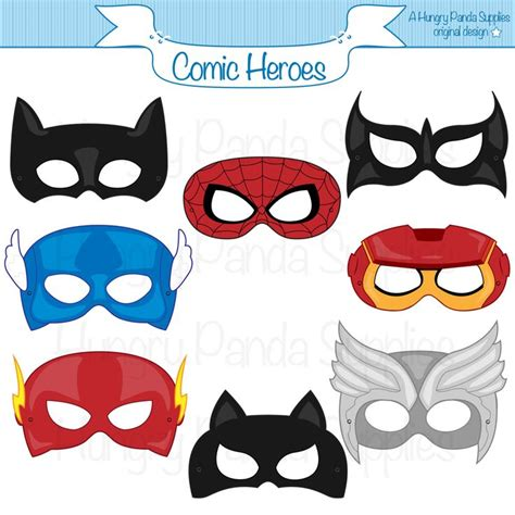 superhero masks printable google search idee  feste