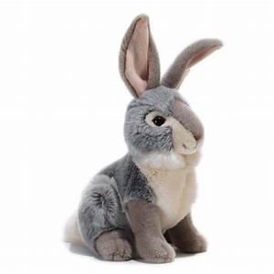 Lapin En Peluche : peluche lapin gris coniglio 30 cm plush company mynoors ~ Teatrodelosmanantiales.com Idées de Décoration