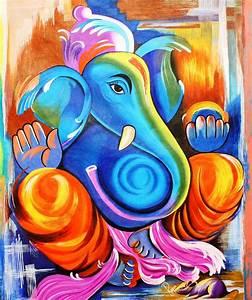 Ganesh Chaturthi Ganesh Artwork Paintings