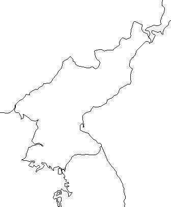 blank outline map  north korea schools