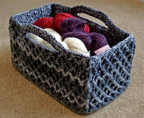 crochet basket rectangular diamond trellis basket make my day creative