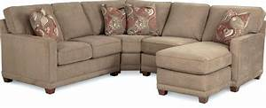 Lovely Lazy Boy Tufted Sectional Sofa With Chaise