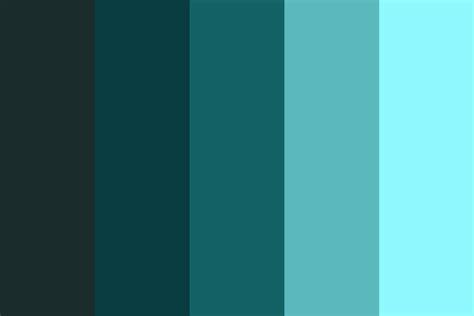 gradient colors gradient of blues color palette