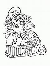 Pony Coloring Poney Petit Coloriage Horse G3 Son Mlp Minecraft Sortant Dibujos Bain Printable Un Rainbow Adult Para Princes Generosity sketch template