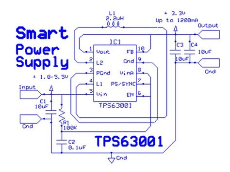 Smart Power Supply Circuit With High Efficient Single