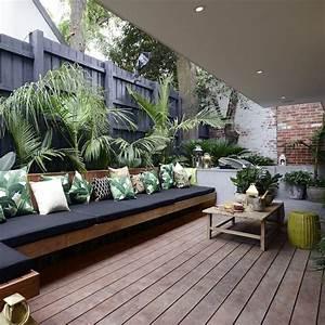 terrasse en longueur nos idees d39amenagement marie claire With amazing decoration d un petit jardin 16 deco cocooning dans la maison