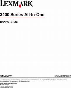 Lexmark 3400 Series Users Manual User U0026 39 S Guide