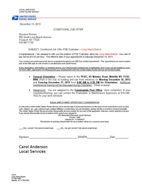 sle job offer acceptance letter pdf docoments ojazlink conditional offer of employment letter docoments ojazlink