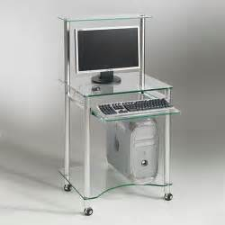 Bureau Pour Ordinateur Portable Design by Square Deco Bureau Multim 233 Dia Compacto Verre Tremp 233