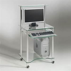 Bureau Informatique Design : petit bureau informatique pas cher bureau blanc design lepolyglotte ~ Teatrodelosmanantiales.com Idées de Décoration