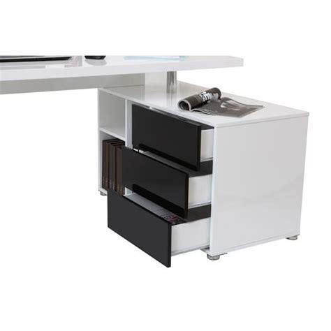 bureau noir laqué caisson de bureau noir laque