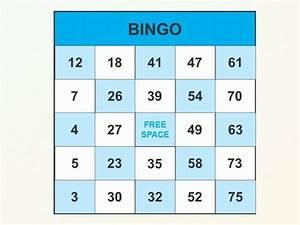 Bingo template for Bingo powerpoint template