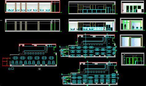 Cafe, Restaurant 2D DWG Plan for AutoCAD ? Designs CAD