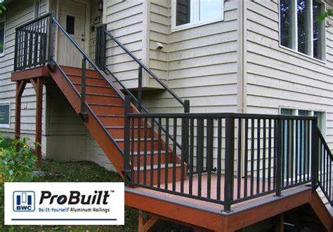 Steel Deck Handrails by Metal Deck Railing The Deck Store