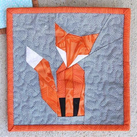 foundation paper pieced  fox craftsy