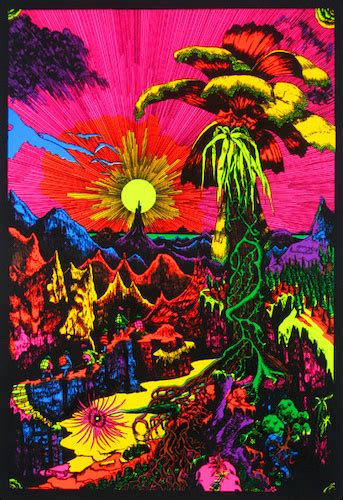 black light posters trippystore lost horizon black light poster