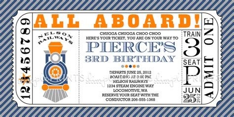 train ticket printable invitation dimple prints shop