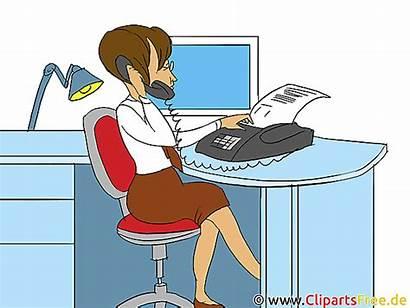 Clip Clipart Call Secretaire Bureau Office Utklipp