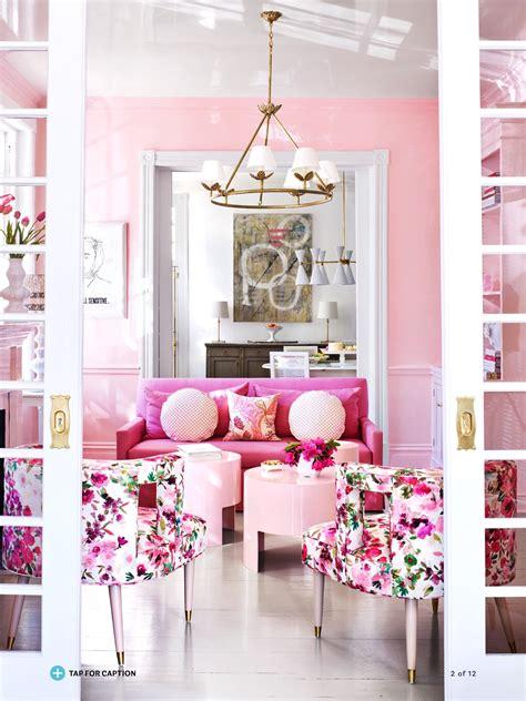el color rosa puede ser perfecto  tu salon vivir hogar