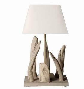 Lampe Chevet Bois Flotté : lampe bois flott lampe design ~ Teatrodelosmanantiales.com Idées de Décoration