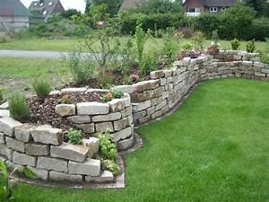 Trockenmauer Bauen Ohne Fundament : trockenmauer als sichtschutz google suche garden diy ~ Lizthompson.info Haus und Dekorationen