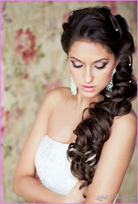 bridal hairstyles long hair down latestfashiontips com