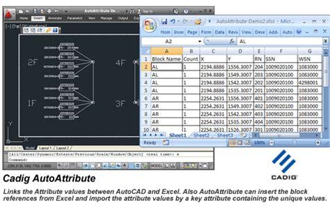link import insert autocad attributes  excel