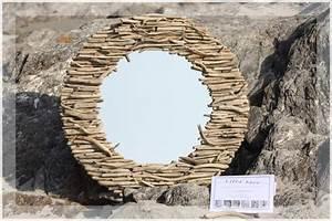 Miroir En Bois Flotté : miroir en bois flott s bois effet mer ~ Teatrodelosmanantiales.com Idées de Décoration