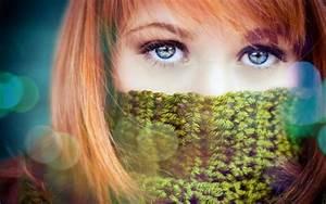 Yeux Verts Rares : cheveux roux nuage ciel d 39 azur ~ Nature-et-papiers.com Idées de Décoration