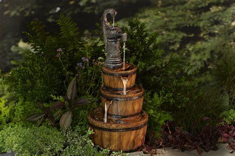 essential garden 3 barrel with 2 led lights