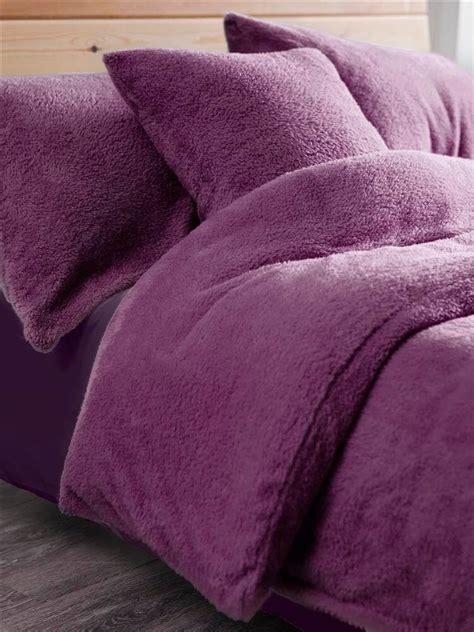 teddy fleece duvet set throw  cushion covers de lavish
