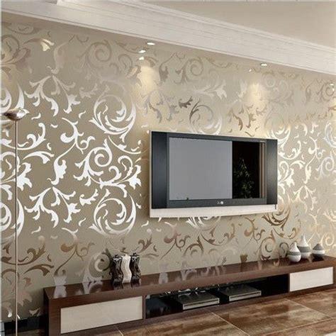 cheap modern living room ideas luxury embossed patten textured wallpaper high end 10m